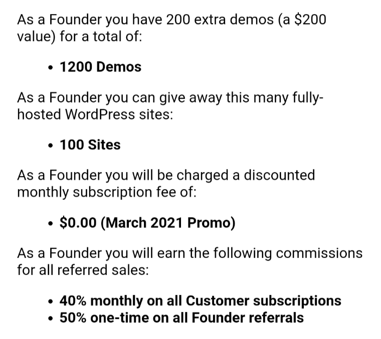 Being a Founder has its benefits!